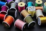 Tigofly Lametta-Garn, 20 verschiedene Farben, klein, glitzernd, 40 Meter, Angeln, Fliegenbinden, Lametta-Schnur, 20 Farben
