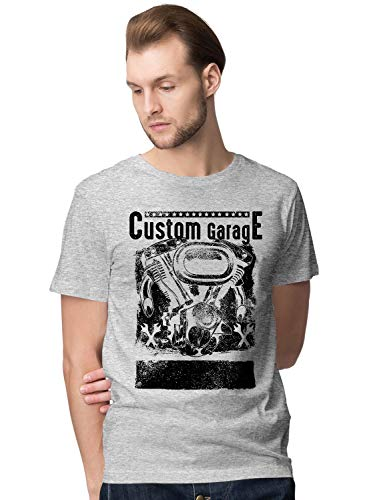 BLAK TEE Hombre Custom Garage Cafe Style Racer Camiseta S