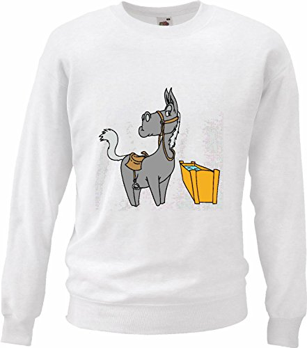 Sweatshirt sweater paard & water cartoon plezier cult film serie motief nr. 10887