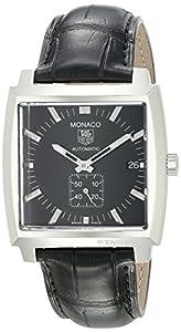 TAG Heuer Men's WW2110.FC6177 Monaco Automatic Leather Strap Watch image