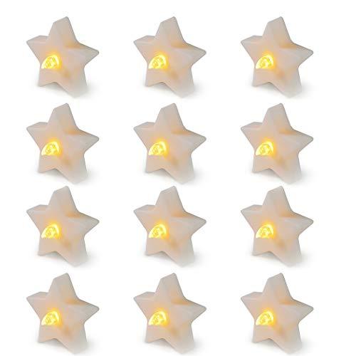 FunPa Led Kerze | Led Teelichter | Candle Led Teelichter Led Elektrische Kerze Lichter Batterie Dekoration für Weihnachten Weihnachtsbaum Ostern Hochzeit Party