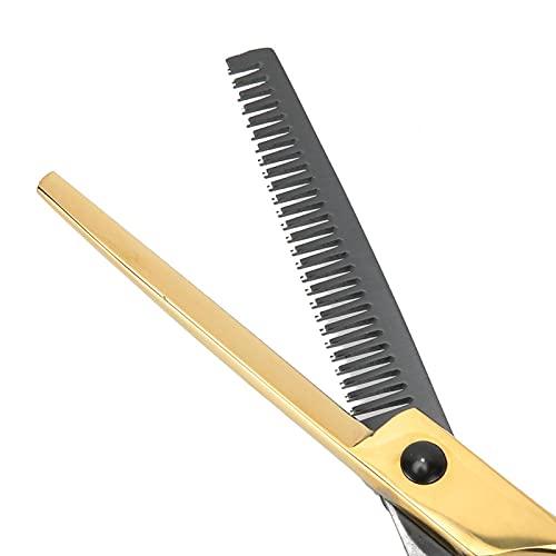 Tijeras de peluquería Tijeras duraderas para hombres y mujeres para uso doméstico(Tooth scissors)