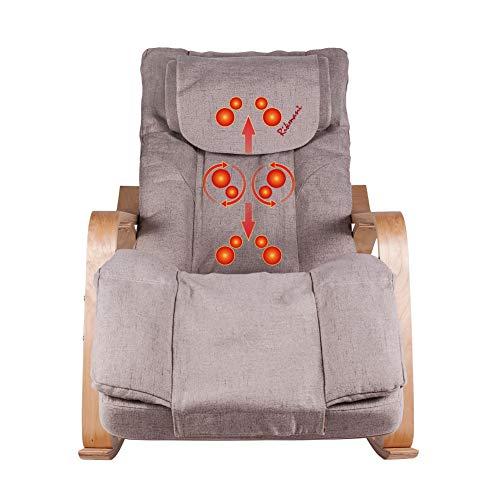 Massagesessel für Zuhause und Büro - Shiatsu TV Sessel mit Hocker - Massagegerät - Massagesessel mit Wärmefunktion – Massage Sessel - Stressless Sessel - Massagegerät Rücken