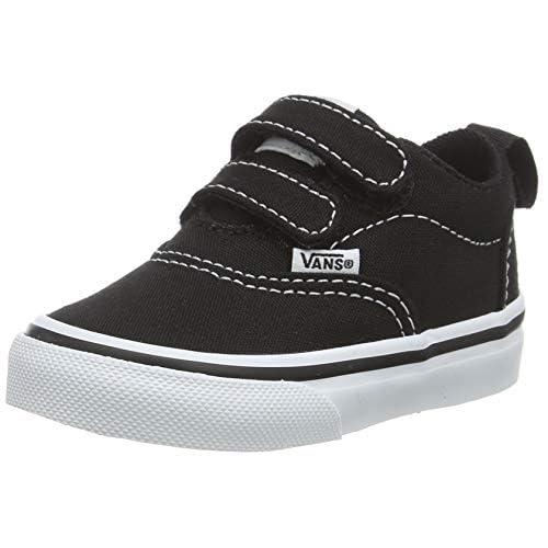 Vans Doheny V - Velcro, Sneaker Bambino Unisex-Bimbi 0-24, Nero ((Canvas) Black/White 187), 18 EU