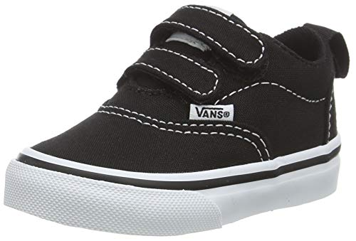 Vans Unisex Kinder Doheny Sneaker, Schwarz ((Canvas) Black/White 187), 25 EU