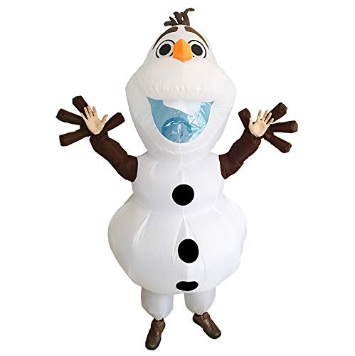 UBCM Olaf Costume Inflatable Costume Fancy Party Dress Birthday Outfit Adult Size Costume (Olaf)