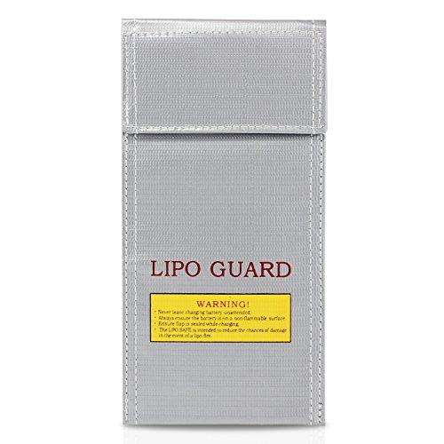 PsmGoods Bolsa Bolsa de Li-Po batería Guardia incombustible Protección de Seguridad del cargador de Saco (10*20cm)