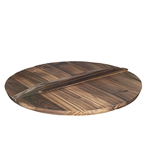 Wooden Lid for 14' Cast Iron Wok