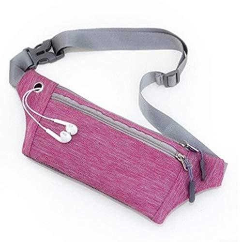 shoutime Dunne Stealth Sport Belt Bag, Onzichtbare Portemonnee, Waterdicht, Ultra-Dun, Wandelen Geschikt voor (6.5-Inch Mobiele Telefoon) Rose Rood