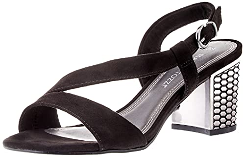 Marco Tozzi Damen 2-2-28327-26 Sandale mit Absatz, Black, 39 EU