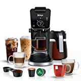 Ninja CFP301 DualBrew Pro Specialty 12-Cup Drip Maker with Glass Carafe, Single-Serve for Coffee Pods or Grounds, with 4 Brew Styles, Frother & Separate Hot Water System, Black
