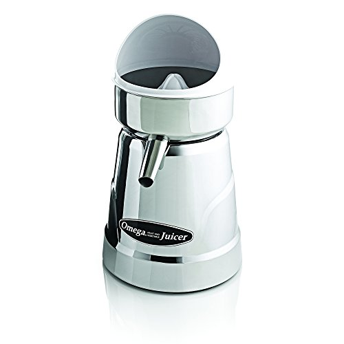 Omega Juicer C-20C Professional Citrus Juicer Features 3 Juice Cones for All Citrus Sizes 1800 Rotations Per Minute Surgical Steel Bowl and Pulp...