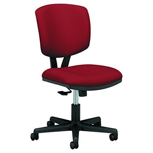 The HON Company GA42.T HON Volt Task Armless Office Chair for Computer Desk, Crimson (H5703), Synchro-Tilt