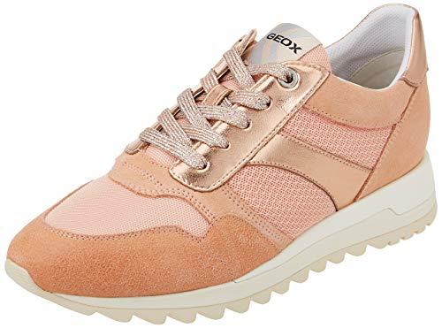 Geox D TABELYA A, Zapatillas Mujer, melocotón, 39 EU