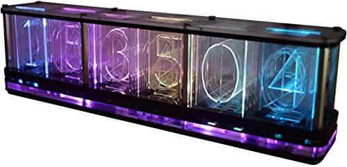 Digitales Led-Wecker-Kit, Große Schrift 6-Stelliges Display Elektronische Uhr Halbfertiges Musikspektrum-Display-Uhr-Modul Multifunktionale DIY-Uhr Mit Zeit/Temperatur/Datum