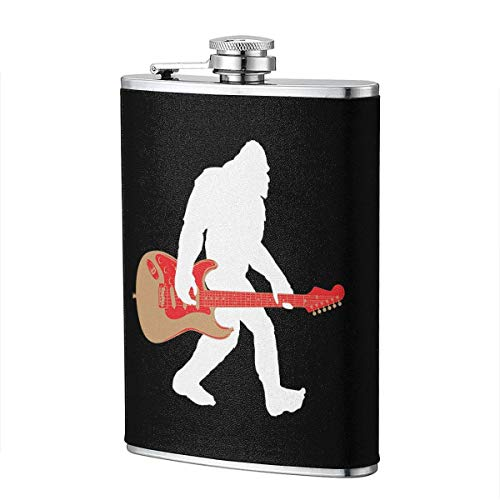 Bigfoot E-Gitarre Edelstahl Flachmann, Whisky Flachmann 7oz, personalisierte Flasche Groomsmen Geschenke