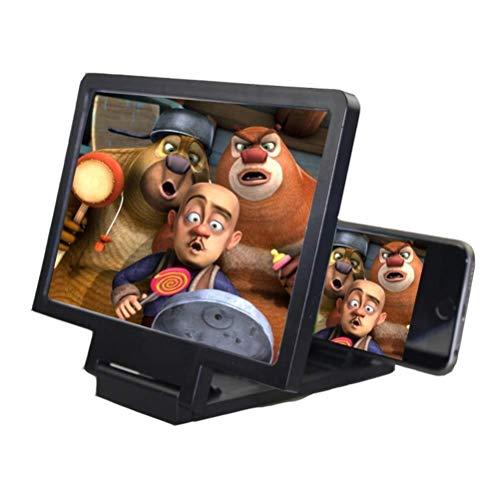 Lupa de artesanía creativa La pantalla del teléfono móvil 3D de aumento de cristal titular del teléfono móvil plegable de película HD de vídeo Soporte for todos los teléfonos inteligentes lupa para le