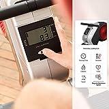 SportPlus Rudergerät für zuhause, klappbar, Rudermaschine mit Magnet- oder Turbinenbremssystem, kugelgelagerter Rudersitz, brustgurtkompatibel, Trainingscomputer, Rowing Machine, Sicherheit geprüft - 3