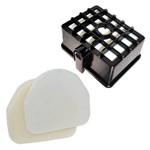 HQRP Filter Kit Works with Shark Rotator NV450 NV451 / Rocket NV472 NV480 NV480_26 NV481 NV482 NV484 Professional Upright Vacuum Cleaner, XHF450 XFF450 Replacement (Short Size 2.36')