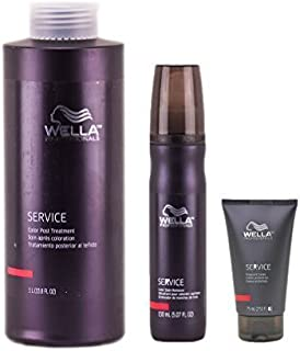 Wella Professionals SERVICE Color Treatment Trio Kit (Preguard Cream 2.53 oz., Color Stain Remover 5.07 oz. & Color Post Treatment 33.8 oz.) by Wella