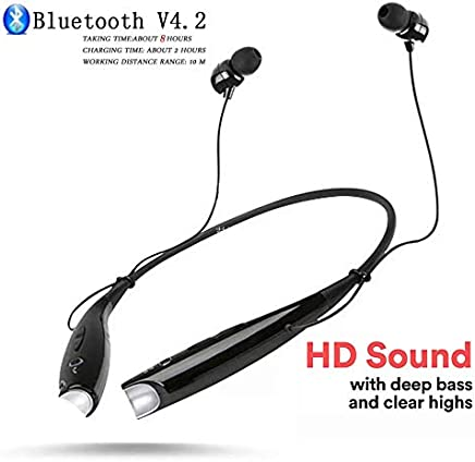 Stealkart Bluetooth Headphones, Wireless Neckband Earphones for iPhone 6s 7 7plus 8 Plus X Redmi Note 6 Pro Redmi Note 7 Pro Redmi 6A Redmi Note 5 Pro Mi 5A Mi A1 A2 Y1 Y2 Vivo V11Pro V15 Pro Headset