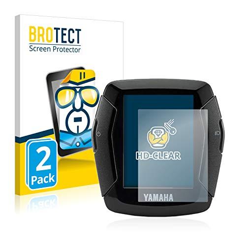 2X BROTECT HD Clear Displayschutz Schutzfolie für Yamaha LCD-C Display 2019 (E-Bike Display) (Kristallklar, extrem Kratzfest, schmutzabweisend)