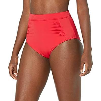 Amazon Essentials Women's High-Waisted Bikini Bottom, Red, Large