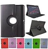 Theoutlettablet Funda Giratoria 360º para Tablet Bq Aquaris M10 10.1' Book Cover Case Protección Delantera y Trasera Color Negro