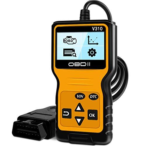 BUDDYGO OBD2 Diagnosegerät Auto Universal Fahrzeug Fehlercodeleser OBD II Diagnose Scanner arbeitet an Allen Autos mit OBD2/EOBD für Lesen und Löschen Fehlercode und Batterie Test
