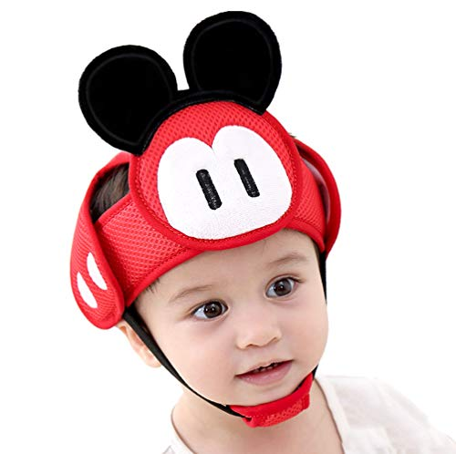 JijiKarna Infant Protective Safety Hat, Baby Safety Helmet for Babies/Toddlers Learning to Walk, Kids Breathable Headguard Adjustable Soft Headguard for Walking Crawling (Red Auspicious Rat)