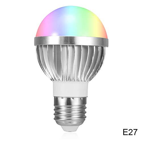 Coomir 1 Stück WiFi Smart Lampe Licht RGB-Lampe Handy APLIKTION Fernbedienung für Zuhause E27