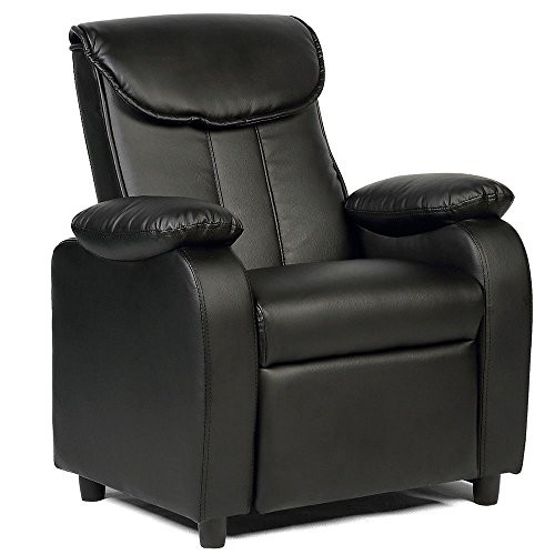 GentleShower Padded PU Leather Kids Recliner