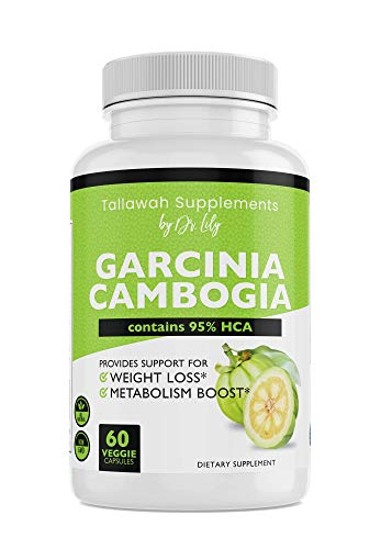 Tallawah Garcinia Cambogia with 95% HCA Dietary Supplement by Dr. Lily- Provides Support for Weight Loss and boosts Metabolism