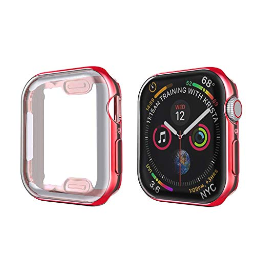 MPWPQ Cubierta del Reloj Delgado para la Caja del Reloj de Apple 6 SE 5 4 3 2 1 42mm 38mm Protector de Pantalla de TPU de Marco Suave de 38 mm para iWatch 5 4 44mm 40mm Strap de Reloj