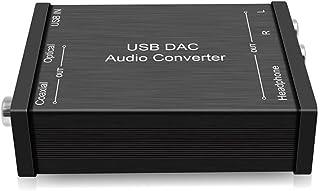 三生テック DAC オーディオ コンバーター USBサウンドカード ヘッドホンアンプ USB Type-B入力 SPDIF Coaxial アナログL/R Android/Windows/MacOS対応【FY-DAC023】