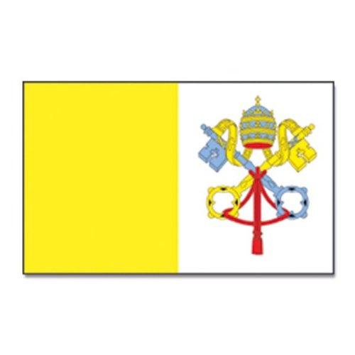 Flaggenking Vatikan - Vatikanstadt Flagge/Fahne - wetterfest, weiß, 150 x 90 x 1 cm, 16900