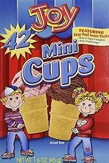 Joy Mini Cups; Mini Ice Cream Cones for Kids, 42 Count (3 Boxes (126 cones))
