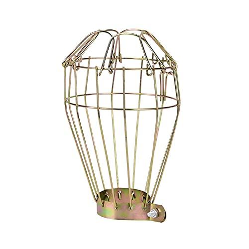 YMBHUO Lámpara Cubierta de Hierro Reptil lámpara de Calor Cubierta de Sombra Anti escaldada calefacción Bombilla de Seguridad Malla de Malla Jaula
