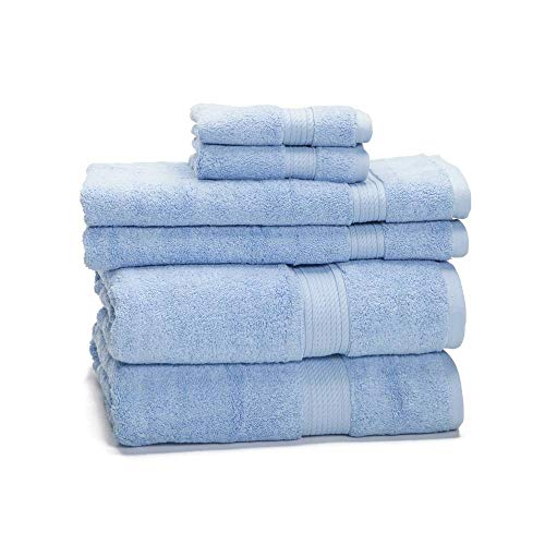 900 GSM 100% Egyptian Cotton 6-Piece Towel Set - Premium Hotel Quality Towel Sets - Heavy Weight & Absorbent - 2 Bath Towels 30' x 55', 2 Hand Towels 20' x...