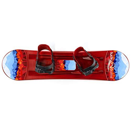 Lucky Bums Kids Beginner Plastic Snowboard, 95cm, Red