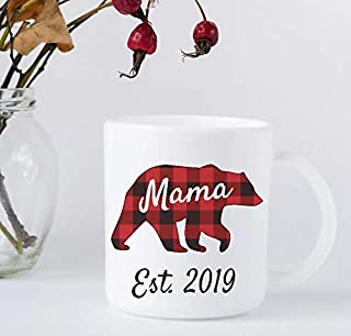 Coffee Mug - Mama Bear 2019 - Buffalo Plaid - Mother's Day Present
