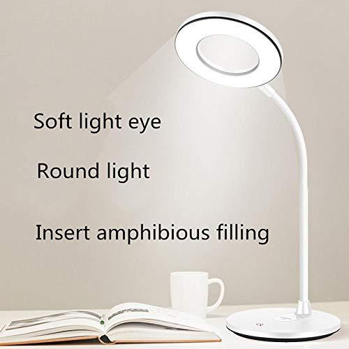 led Vouwen Slaapkamer USB Opladen Bureaulamp Warm en Koud Licht Student Slaapzaal Oogbescherming Leren Nachtkastje Lezen lamp-T404_ 1