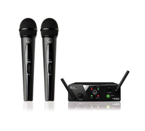 AKG WMS40 Mini2 - Sistema de micrófono inalámbrico doble 864,735/864,85 MHz