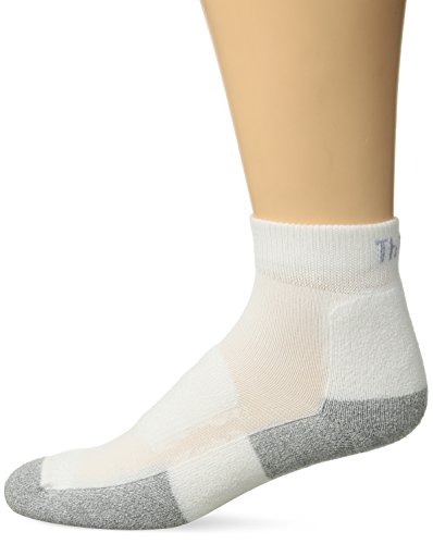 Thorlos Unisex GMX Golf Padded Ankle Sock, White, Medium