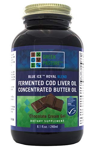Green Pasture - Blue Ice Royal Butter Öl/Fermentierter Lebertran Gel - Choco - 240 ml