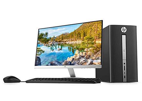 2018 HP Pavilion 570 23' Full HD Desktop Bundle, Intel i3-7100 Dual-Core Processor 3.9GHz 8GB DDR4 RAM 1TB HDD DVD VGA HDMI Keyboard Mouse Windows 10,Black