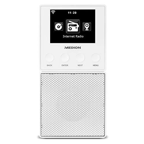 MEDION E85032 MD 87248 WLAN Internet Küchen Steckdosenradio (abnehmbarem Streaming Lautsprecher, integriertes Netzteil mit Ladefunktion, DLNA, UPnP, Steuerung per App)