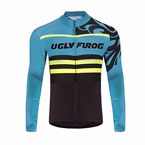 UGLYFROG #19 2018 Radsport Trikots Lange Ärmel Sport & Freizeit Shirts Winter with Fleece Style