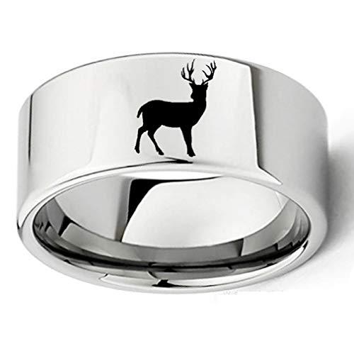 Ring mannen en vrouwen titanium staal creatieve kerst dier hert ring kostuum accessoires eenvoudig wild No10 ZILVER