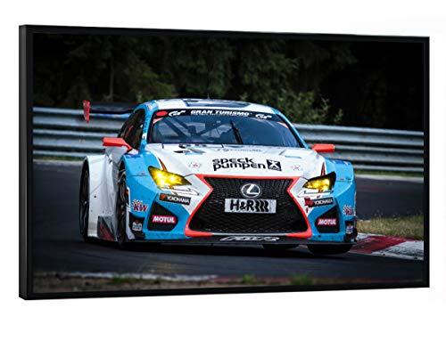 artboxONE Poster mit schwarzem Rahmen 30x20 cm Sport/Motorsport Aufgedreht - Bild Rennwagen Rennsport DTM